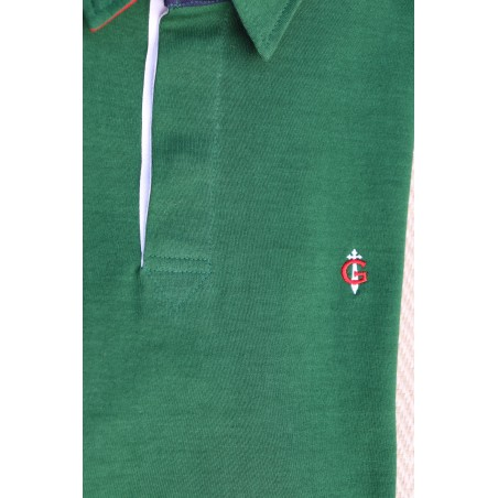 Polo vert  manches longues GAULOIS FRANCE pour homme  100% conçu fabriqué en France GAULOIS marque française de prêt à porter