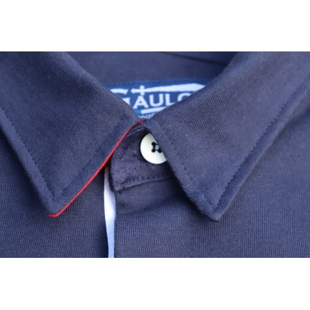 Polo homme bleu manches longues GAULOIS FRANCE pour homme 100% conçu fabriqué en France.