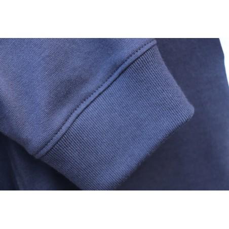 Polo bleu manches longues GAULOIS FRANCE pour homme Bleu 100% conçu fabriqué en France