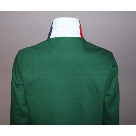 Polo vert manches longues GAULOIS FRANCE pour homme  100% conçu fabriqué en France
