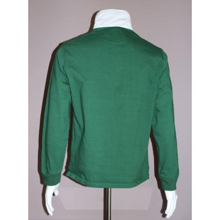 Polo vert  manches longues GAULOIS FRANCE pour homme vert 100% conçu fabriqué en France