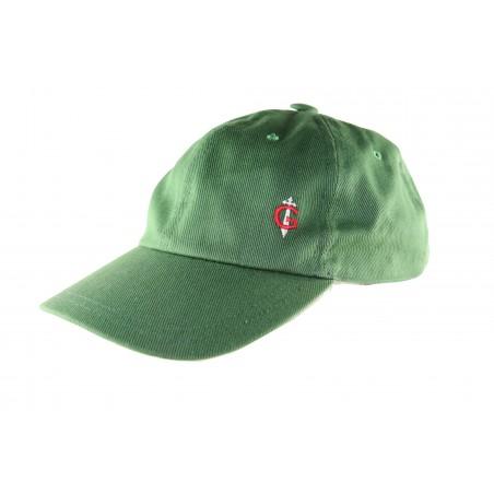 Casquette verte pour homme fabriquée en France GAULOIS® 100% coton Made in FRANCE. Made in FRANCE cap caps bob