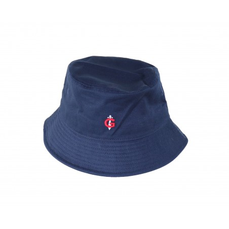 Bob bleu GAULOIS® la bob mode unisexe dans un sergé de coton 100% coton lourd