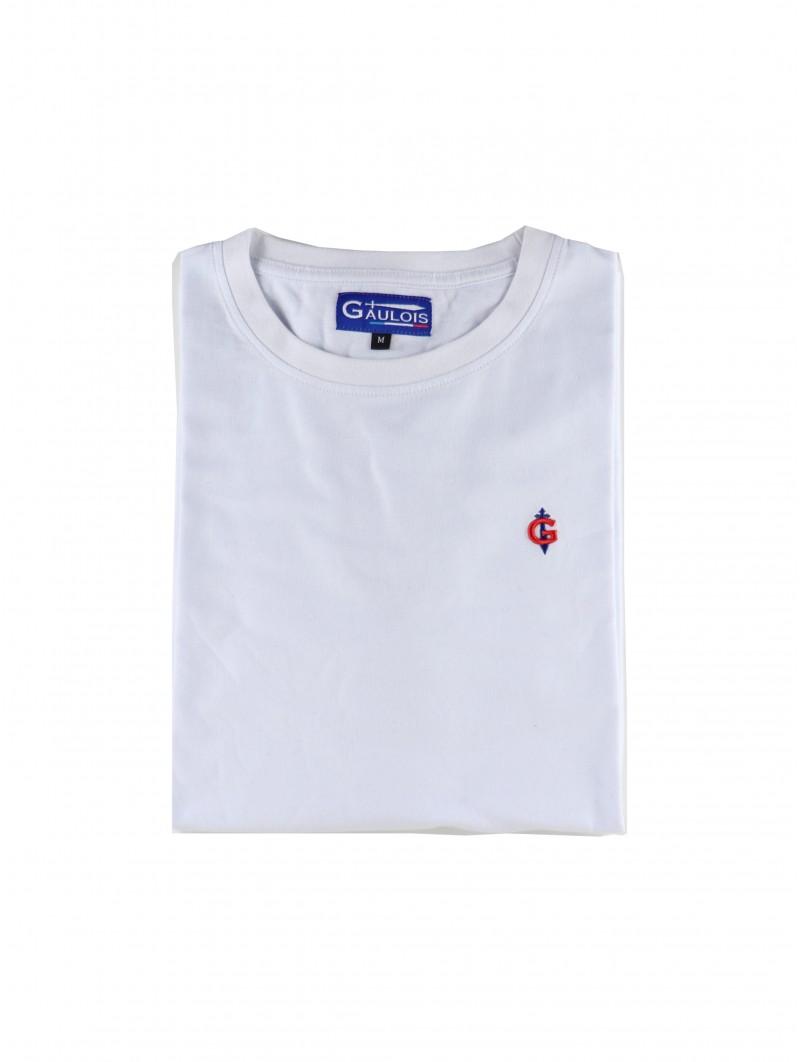 T-shirt blanc homme GAULOIS® 100% coton FRANCE