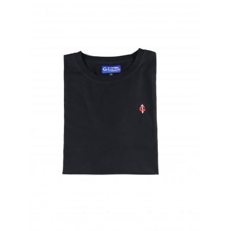 T-shirt noir pour homme 100% coton manches courtes conçu en FRANCE GAULOIS FRANCE T-shirt France