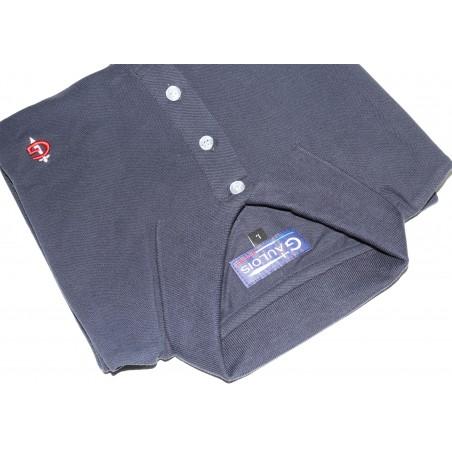 polo bleu marine pour homme 100% coton manches courtes conçu en FRANCE GAULOIS FRANCE le must du polo manches courtes pour l'été