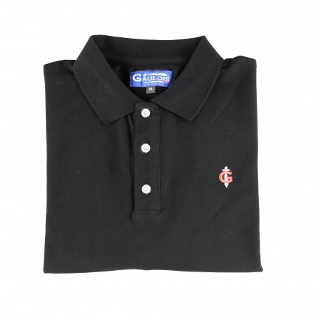 polo noir pour homme 100% coton manches courtes conçu en FRANCE GAULOIS FRANCE