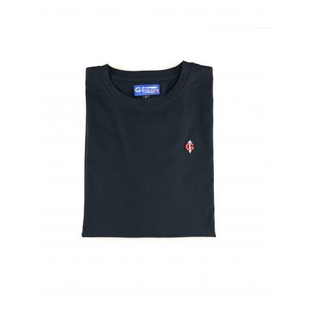 T-shirt bleu marine pour homme 100% coton manches courtes conçu en FRANCE GAULOIS FRANCE