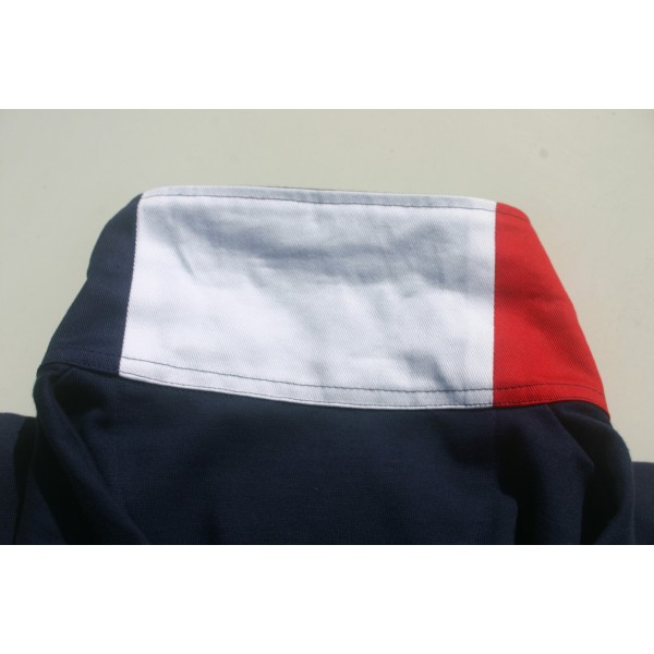 Polo homme bleu manches longues GAULOIS FRANCE pour homme 100% conçu fabriqué en France. Textile français confection FRANCE